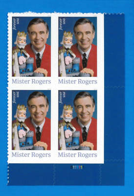 US SC#5275 Mister Rogers Stamp a Plate Block of 4 Stamps 2018