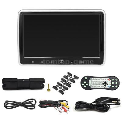 "10.1"" HD Digital LCD Car Headrest Monitor DVD Player FM IR Game Universal J8M9"