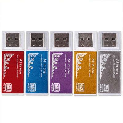 For Micro SD TF M2  MS All in 1 USB 2.0 Multi Memory Card Reader For Five Colors