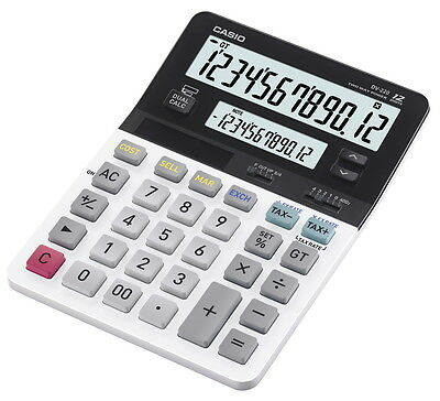 Casio DV-220 Dual-Display Desk Calculator with 12-Digits