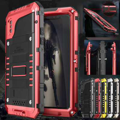 Luphie Waterproof Shockproof Aluminum Metal Case Cover For Iphone X 6S 7 8 Plus