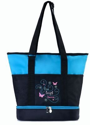 Sassi Designs Live, Laugh, Dance large tote with rhinestone accents