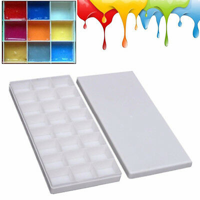 24 Grids Painting Paint Tray Artist Oil Watercolor Plastic Palette Art Supply