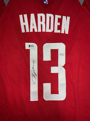 dd69f01bf James Harden Houston Rockets Autographed Signed basketball Jersey - Tickets  MVP