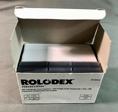 Rolodex Necessities Box with 70 Transparent Card Protectors and 150+ Cards 3 x 5