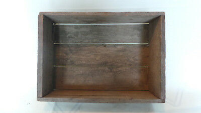 Vintage Small Primitive Weathered Wooden Box Wall Display Handmade Steampunk