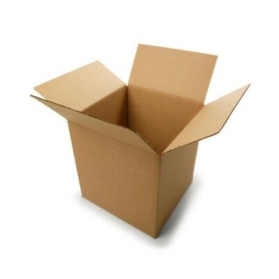 """Postal Single Wall Mailing Small Cube Cardboard Boxes 4X4X4"""" Multilisting"""