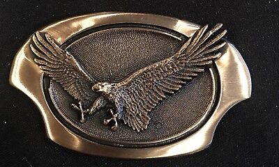 Vintage ~ Eagle Solid Brass ~Belt Buckle~New