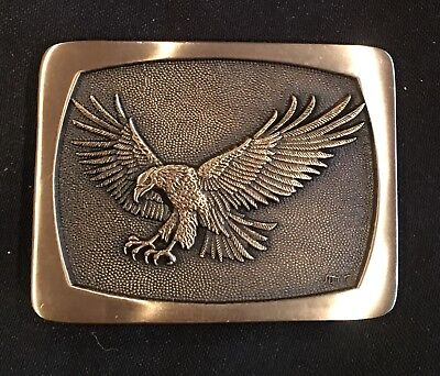 Vintage ~ Eagle Solid Brass ~Gold Tone~ Belt Buckle~New