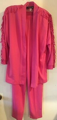 Vivtage 80's My Kinda Gal Pant Suit Pink Small