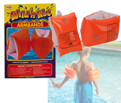 Childrens Armbands Kids Swim Bands Inflatable Safety Swimming Childs Baby Babies