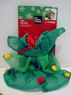Pet Holiday Christmas Tree Costume for Small Animal Dog Cat Guinea Pig