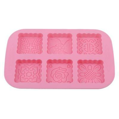 Square Floral Moon Cake Silicone Mold Soap Mold Candy Ice Handmade Craft Jian
