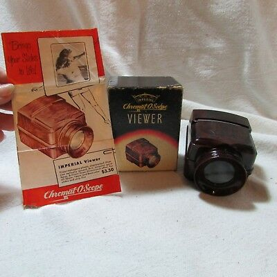 Vintage 1940's Imperial Chromat-O-Scope Slide Viewer w/Instructions in Box