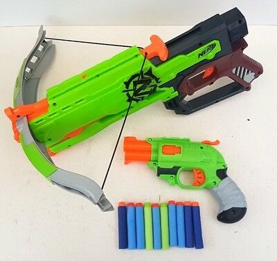 NERF Zombie Strike Cross Bow And Double Strike With 10 X Bullets