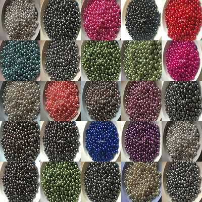 Wholesale 100/500/1000pcs 8mm ABS No hole Pearl Round Spacer Loose Bead 22 color