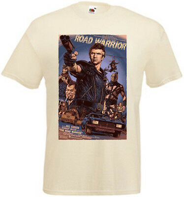 Mad Max II The Road Warrior v5 T-shirt natural movie poster all sizes S...5XL