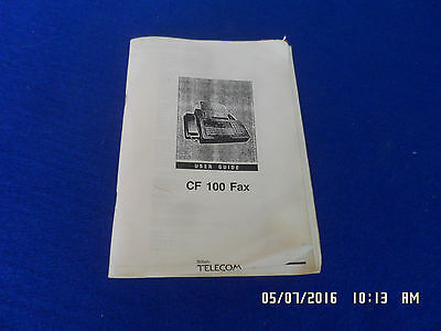 BT CF-100 Fax Machine User Guide, 142 Pages, Well Used But Complete