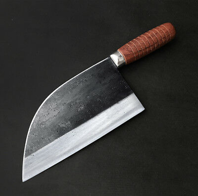 Handmade Traditional Chinese Forged Chef Kitchen Knife Meat Cleaver Slicing