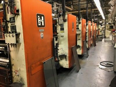 Hantscho Mark VI web printing presses units, WPC components, Perretta inking