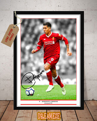 Roberto Firmino Liverpool Fc Autographed Signed Football Photo Print