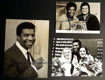 ROBERTO BLANCO * 3 PRESSEFOTOS div. Grösse PHOTOS LOT TV 70er Schlager MUSIK