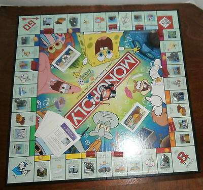 Used monopoly spongebob squarepants edition board game for sale in.