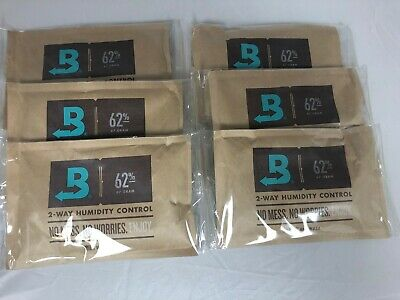 Boveda 62% RH 2-Way Humidity Control -Large 67 gram INDIVIDUALLY WRAPPED 6 packs