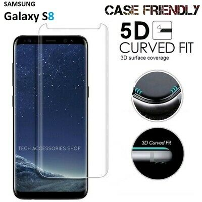 For Samsung Galaxy S8 -100% 3D Curved Tempered Glass LCD Screen Protector