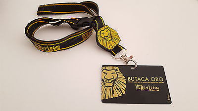 """el Rey Leon - El Musical"" Butaca Oro Pass Card + Lanyard / Disney The Lion King"