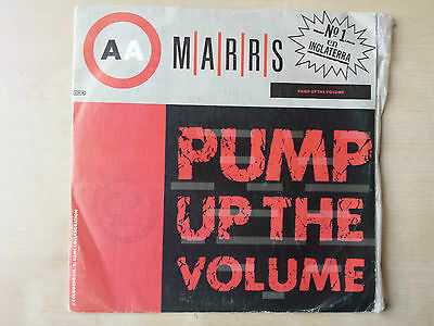 "Marrs ""Pump Up The Volume"" Rare Spanish Promotional 7"" Vinyl"