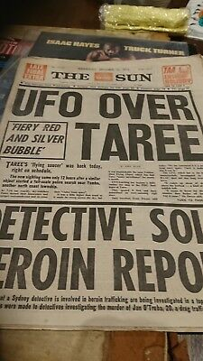 UFO over Taree vintage newspaper Sydney September 13 1972