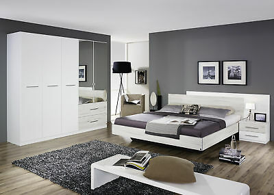 schlafzimmer in alpinweiss bett nako schwebet renschrank woody 33 01143 eur 669 00 picclick at. Black Bedroom Furniture Sets. Home Design Ideas