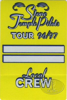 STONE TEMPLE PILOTS 1996 Backstage Pass CREW ylw