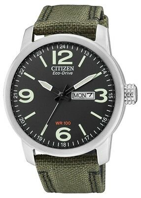 Citizen Mens Eco-Drive Stainless Steel Military Watch BM8470-11E. BEST SELLER.