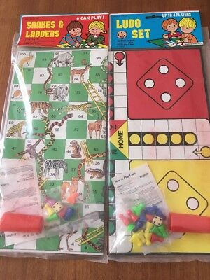Vintage New Ludo Set  & Snakes Ladders Board Game Child Collectable