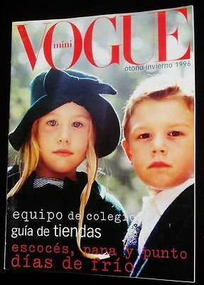 VOGUE SPAIN BAMBINI Kids Children Enfant Fashion RARE Magazine Fall Winter 1996