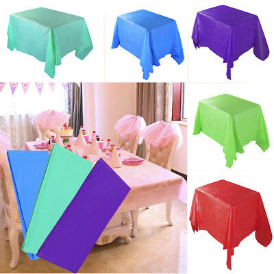 Large Plastic Rectangle Table Cover Cloth Wipe Clean Party Tablecloth Cover 2018