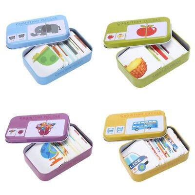 Toddler Infant Baby Kids Learning Cognition Card Matching Game Educational Toys