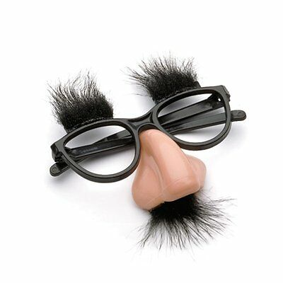 Fancy Cosplay Disguise Moustache Glasses Halloween Party Dress Big Nose US