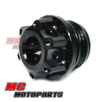 Black CNC Race Billet Oil Filler Cap For Ducati Monster 821 / 1200 2014-2015