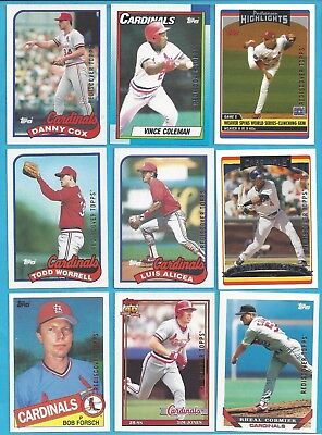 2017 Topps Rediscover Topps Buybacks - 17 card lot of St. Louis Cardinals