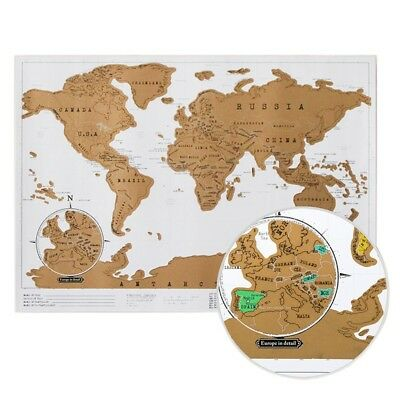 Deluxe Scratch Off Map Of The World Home Decoration Paper Perfect Travel Poster