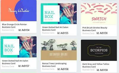 100 Artist Business Cards custom one sided Multi Color Printing Free Design