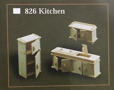 1/12th Scale Kitchen Room Furniture Set, Dolls House Miniatures