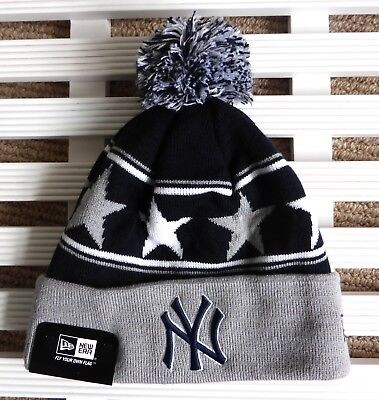 f8b4e6fd3b716e ... spain ny yankees new era navy bobble beanie hat mlb toque osfa new york  pompom usa ...