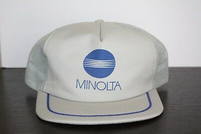 f3f2c4f31c9 Vintage Minolta Camera Film Video 90 s SnapBack Trucker hat Made USA  Photography