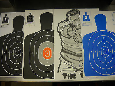 120 Variety Pack Silhouette hand gun, rifle paper shooting targets 12X18/11x17