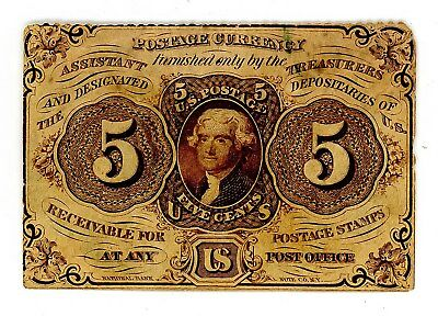 Fr. 1229 5c Five Cents 1st Issue Fractional Currency -FINE