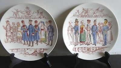 Pair of commemorative Plates: 1889 Paris Exposition Universelle. Russia & Europe